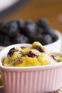 Blackberry Egg Bake - It has coconut flour, but I love the idea! Try using almond flour