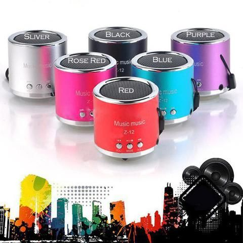 Handfree Wired Portable Mini Speaker Subwoofer FM Radio USB Micro SD TF Card MP3…