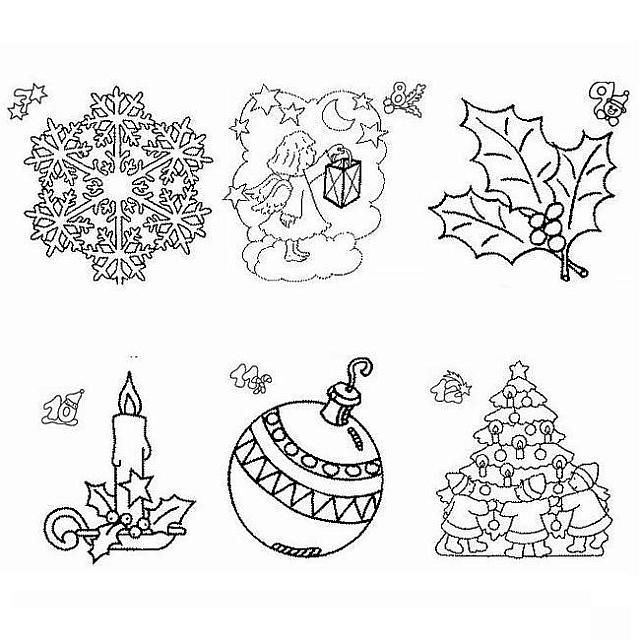 I Simboli Del Natale.Simboli Di Natale Disegno Di Natale Da Colorare Disegni Da