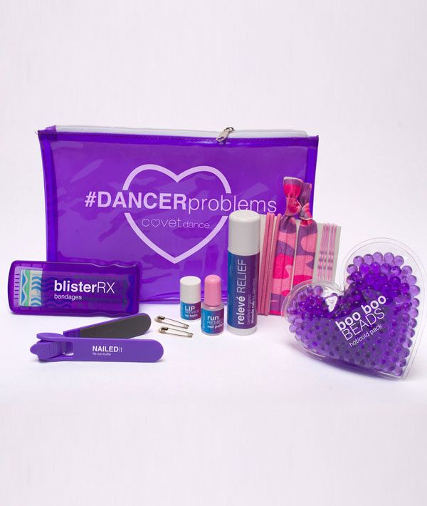 The pouch is filled with solutions for everyday emergencies dancers face during practice and performance. Whether in studio or on stage, keep this hardworking little kit handy in your dance bag so nex I have this and it's really cool