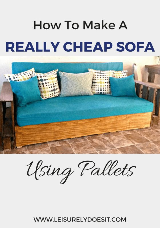 How to make a really cheap sofa using pallets pallet for Really cheap sofas
