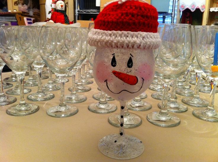 Wine Glass Santas Easy To Make Christmas Pinterest