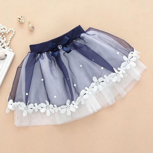 Юбки принцессы для вечеринки для девочек бальные платья балетные юбки-пачки из сетки вышитой жемчугом тюлевые юбки с цветами для танцев для девочек для детей 4 8 10 лет нижние юбки