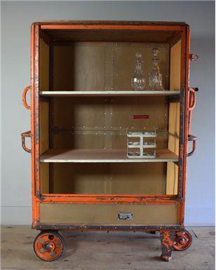 Industrial Shelving Trolley 547   Vintage Furniture   turnerandcox.co.uk   Warehouse Home Design Magazine