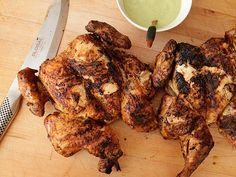 Peruvian Style Grilled Chicken with Green Sauce from Serious Eats. Made this on 6/29/16 to try and replicate the chicken from a nearby food cart. This was Ahhhhhmazing! Loved the green sauce so very much!