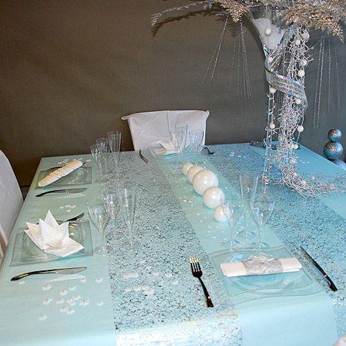 dcoration de noel notre slection de tables - Decoration De Noel Blanche