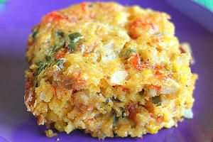 Crawfish Cornbread~ Make an authentic batch of crawfish cornbread to celebrate Mardi Gras.