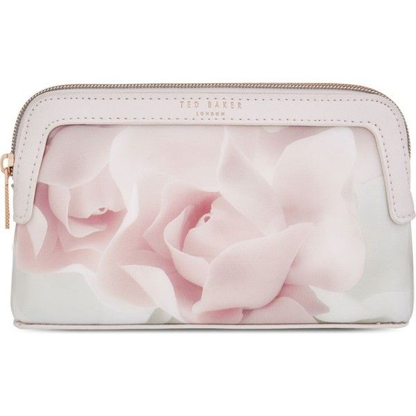 TED BAKER Amallia porcelian rose make-up bag (£27) ❤ liked on Polyvore featuring beauty products, beauty accessories, bags & cases, nude pink, travel toiletry case, travel kit, ted baker, make up purse and ted baker makeup bag