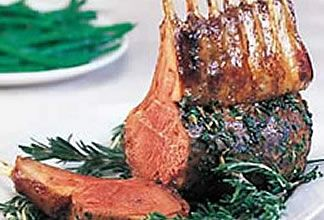 Roasted Rack of Lamb with Garlic and Red Wine Sauce   Australian Lamb