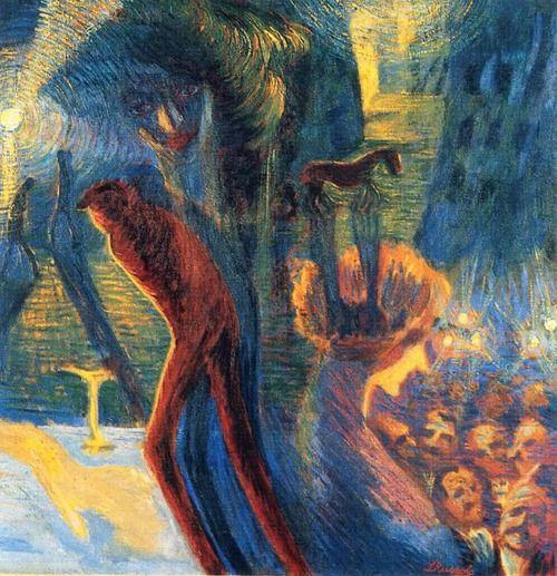 Página: Recuerdos de una Noche Artista: Luigi Russolo Fecha de finalización: 1911 Estilo: Futurismo Género: pintura de género