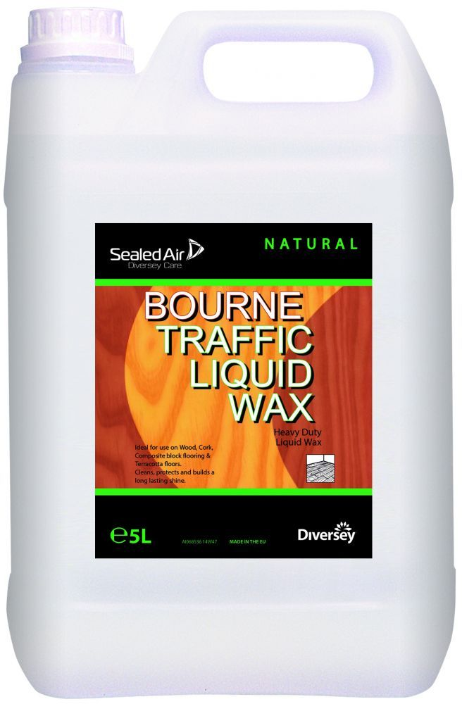 Bourne Traffic Liquid Wax X 5 Ltr Floorcare Floorcare Traffic