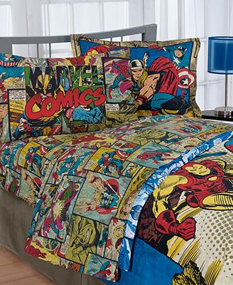 These sheets are perfect for a superhero room.