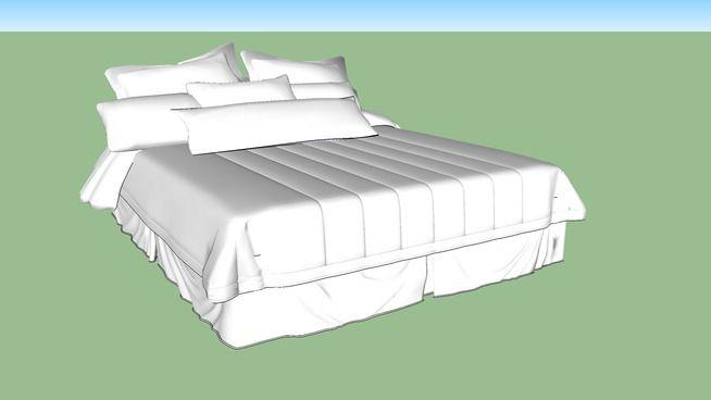 Cama Casal - 3D Warehouse                                                                                                                                                                                 Mais