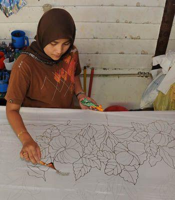 hand drawn batik