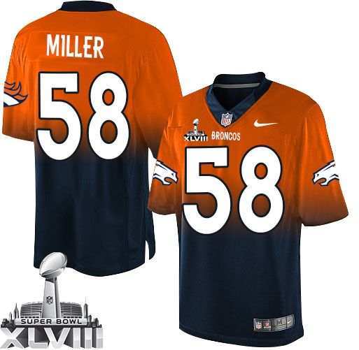 wholesale dealer fe0dd 10da2 elite von miller mens jersey denver broncos 58 autographed ...