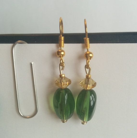 Loki Inspired Glass Bead Earrings, $10