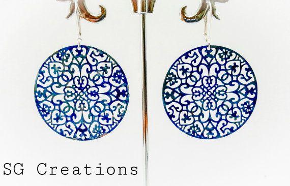 Orecchini Blue life di SGCreationsAndArts su Etsy