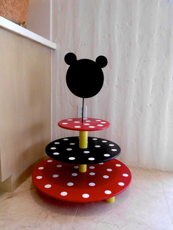 Whimsical Minnie / Mickey Mouse  Cupcake Stand  by BUTTONSANDBOW, $120.00