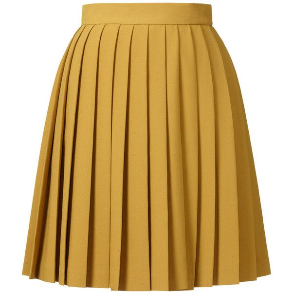 Orla Kiely Solid Crepe Blend Skirt ($380) ❤ liked on Polyvore