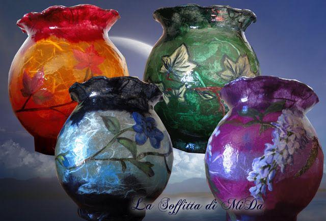 Vases Decorations under glass