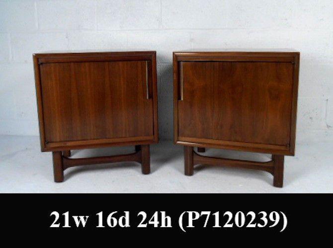 pair vintage walnut nighstands p7120249j modern bedroom bedroomsmid century modern bedroom