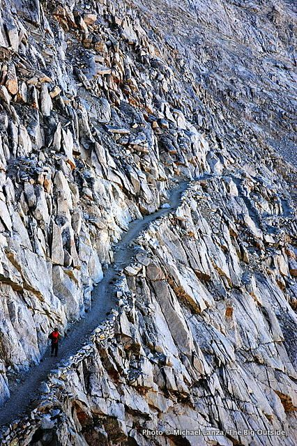 Descending south from Forester Pass, Sequoia N.P. John Muir Trail.