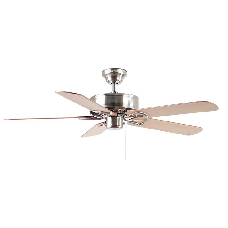Shop Harbor Breeze Classic 52-in Brushed Nickel Downrod or Flush Mount Ceiling Fan ENERGY STAR at Lowes.com kitchen or living room