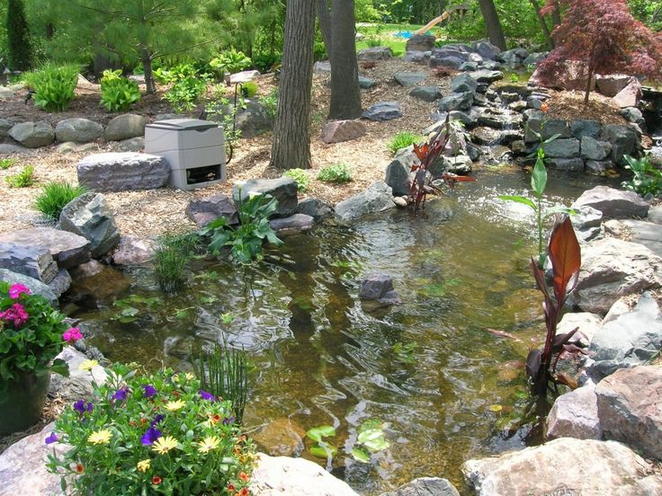 73 best images about garden on pinterest gardens for Koi pond design ideas