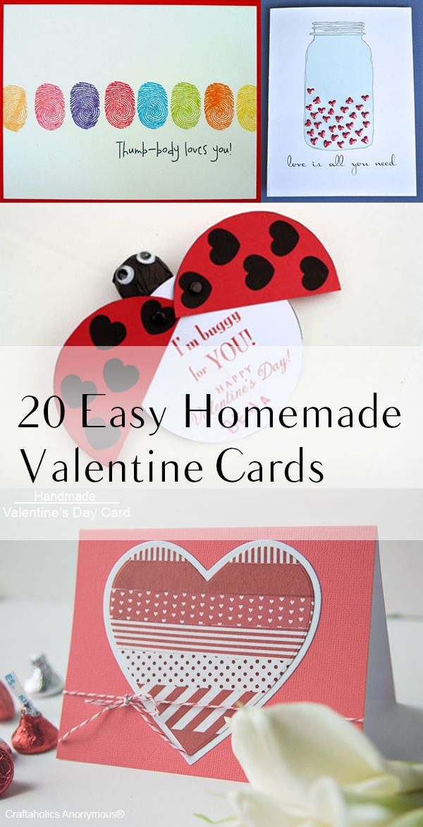 17 best ideas about homemade valentine cards on pinterest for Valentines day card making ideas