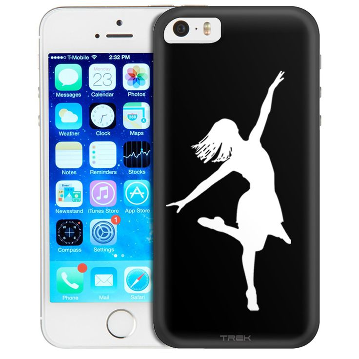 Apple iPhone SE Silhouette Dancer on Black Trans Case