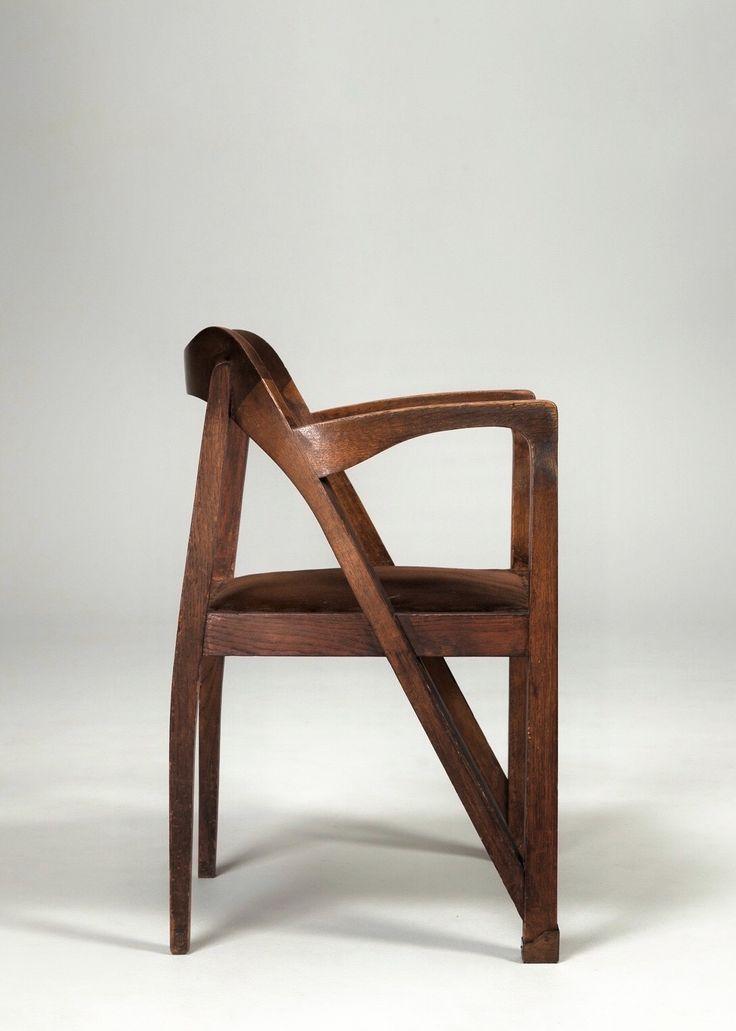 Henry Van de Velde Oak Jugend Chair 1900s