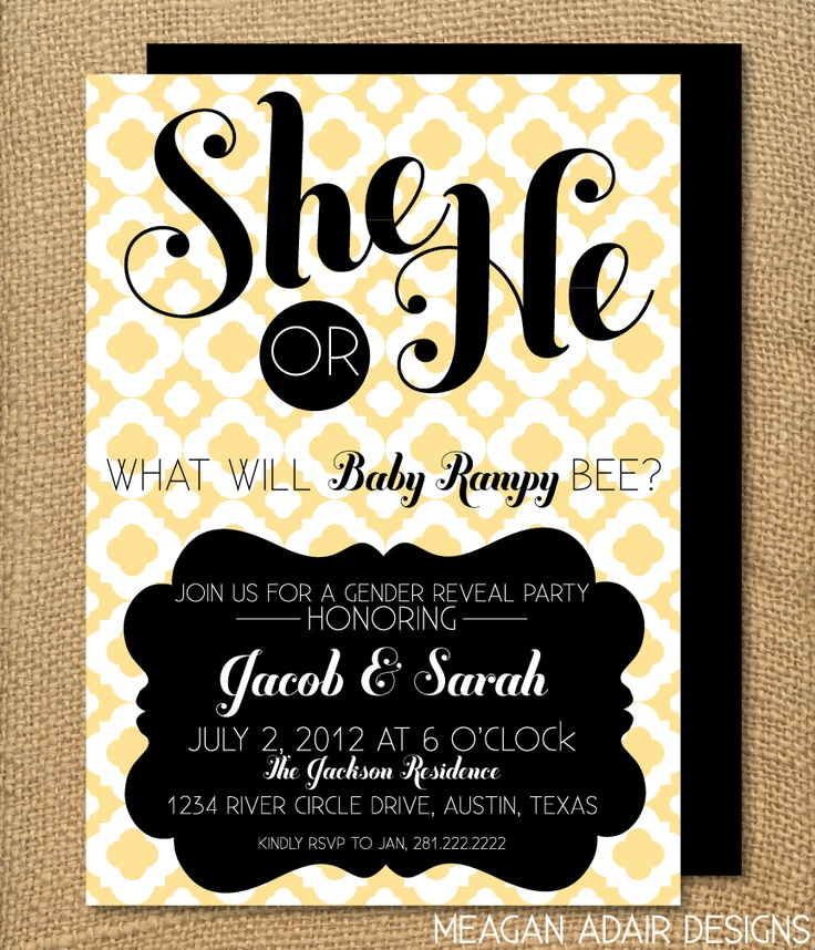 169 best images about Gender Reveal Party – Baby Gender Reveal Party Invitation Wording