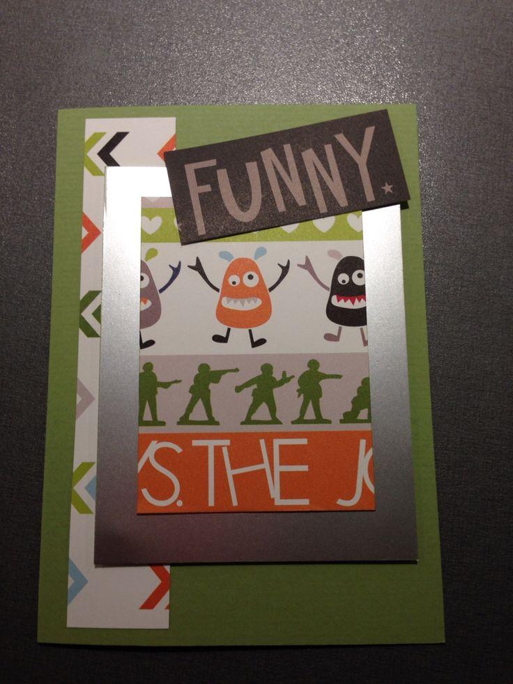 Håndlavet kort FUNNY / handmade card