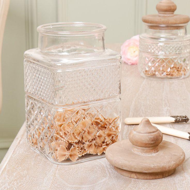 Vintage Glass Kitchen Storage Jar