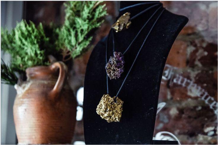 Terra Purple/Gold Neckpieces, Buy online: www.pichulik.com/shop