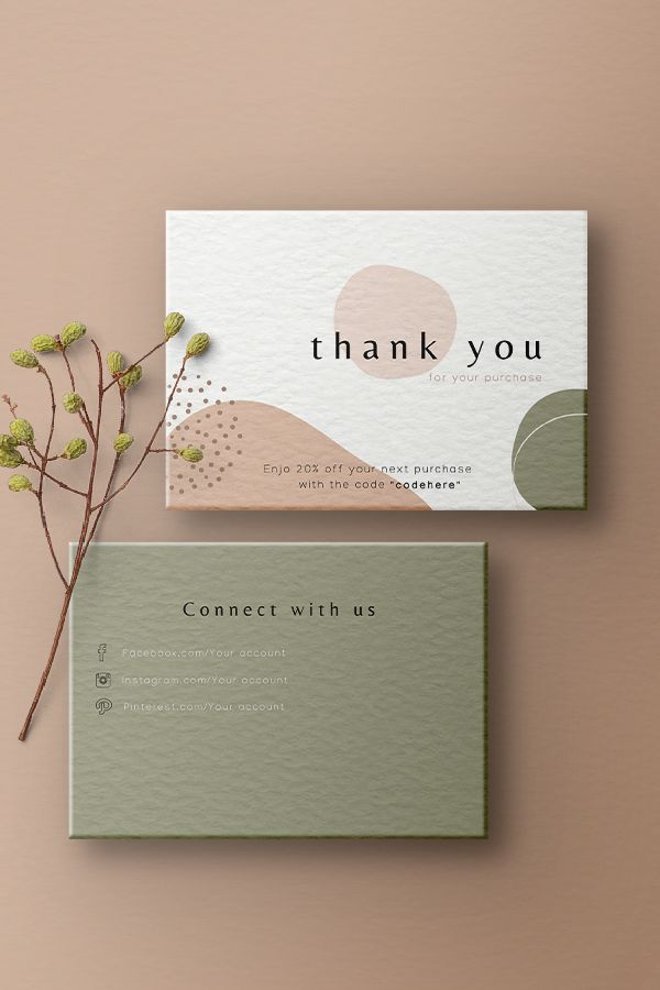 Thank You For Your Order Cards Business Stationery Business Etsy In 2020 Business Cards Minimal Thank You Card Design Artist Business Cards