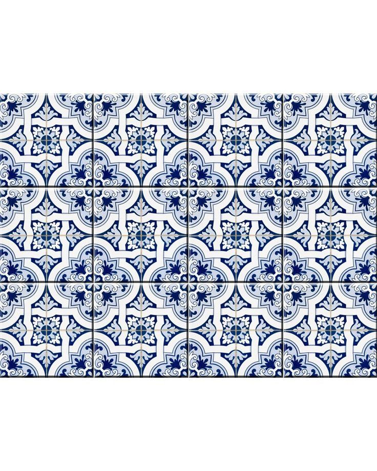 AmazonSmile: Backsplash Peel and Stick Tile Stickers 24 PC Set Authentic Tile Decals Bathroom & Kitchen Vinyl Wall Decals Easy to Apply Just Peel & Stick Home Decor (8x8 Inch, Retro Blue H13): Home & Kitchen