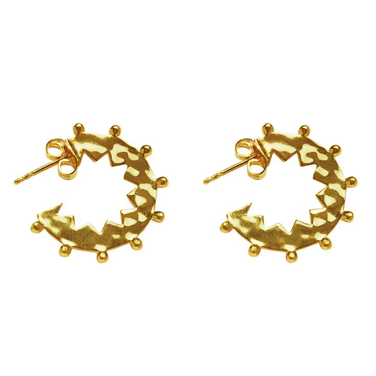 Maya Small Hoop Earrings in 18 KT Yellow Gold. Shop the full collection at www.murkani.com.au