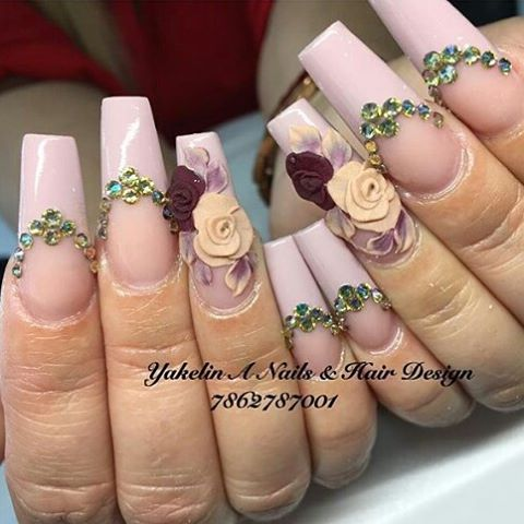 """150 Likes, 2 Comments - Tones (@tonesproducts) on Instagram: """"#tonesproducts #tonesnailart #3ddesign #acrylicpowders #3dacrylic #3dflowers #tones @tonesproducts…"""""""