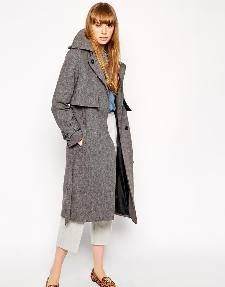 ASOS Coat With Trench Details And Belt