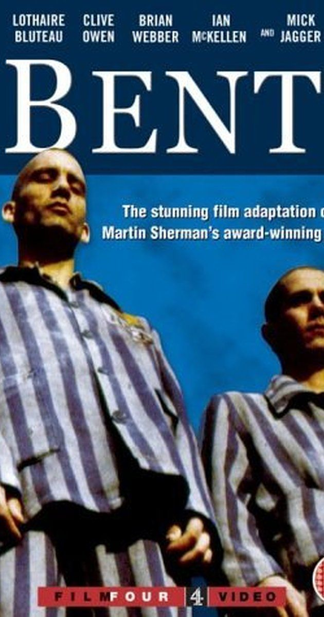 Directed by Sean Mathias.  With Lothaire Bluteau, Clive Owen, Mick Jagger, Brian Webber. Max is gay and as such is sent to Dachau concentration camp under the Nazi regime. He tries to deny he is gay and gets a yellow label (the one for Jews) instead of pink (the one for gays). In camp he falls in love with his fellow prisoner Horst, who wears his pink label with pride.