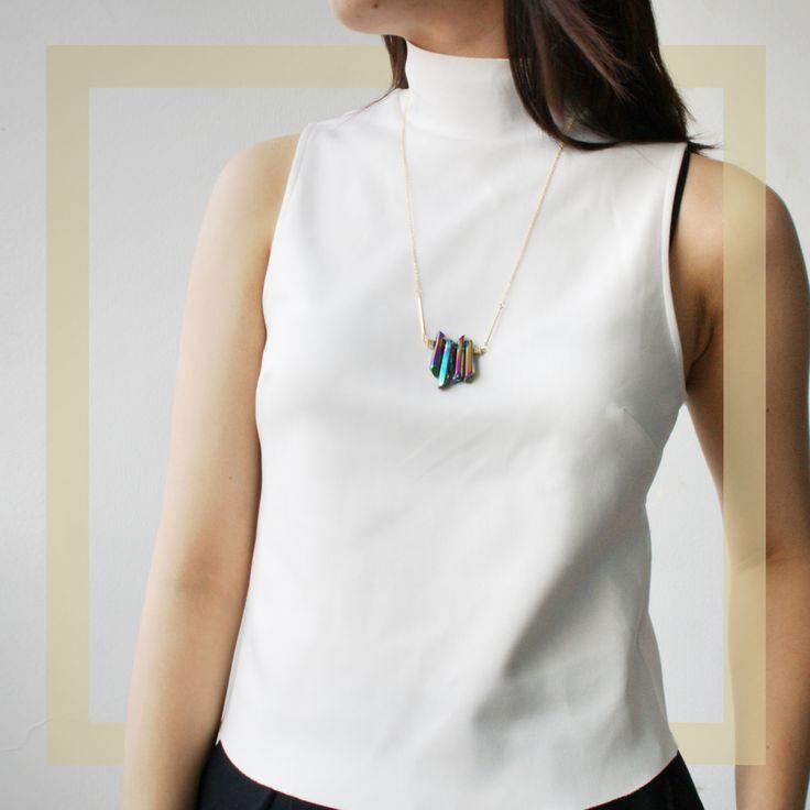 Milamili.com - Eden by sight - Aura Quartz Necklace