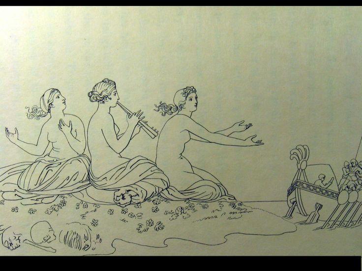 The Odyssey of Homer - The Sirens - JOHN FLAXMAN (BRITISH, 1755–1826)