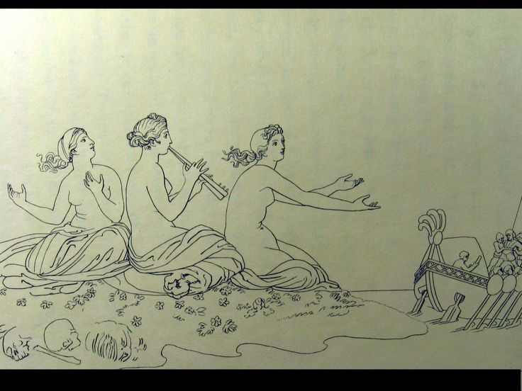 The Odyssey of Homer - The Sirens - JOHN FLAXMAN (BRITISH, 1755–1826)