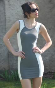 Body-con Color-block Dress