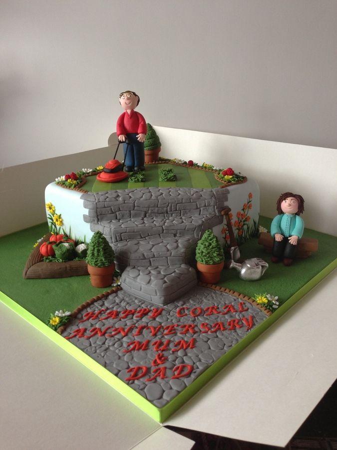 Garden Design Birthday Cake 48 best garden cake images on pinterest | garden cakes, biscuits