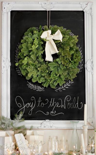 Framed holiday chalkboard