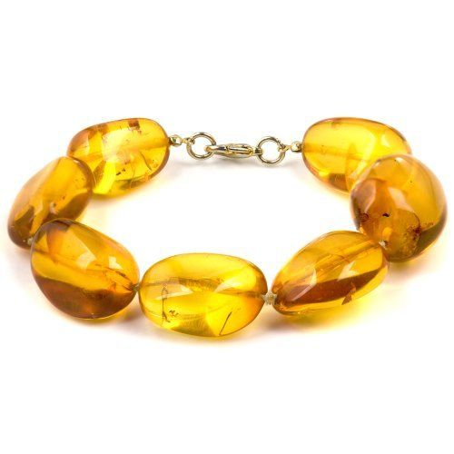 Sterling Silver Light Amber Oval Cut Bracelet 10 Inches GRACIANA. $275.98. All amber jewelry designs are from Eastern Europe. Save 50% Off!