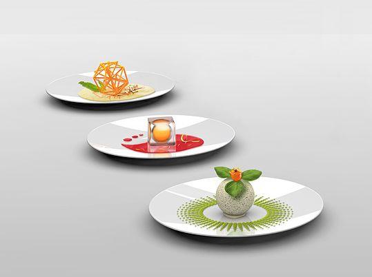 3D molecular food printer that relies on the expirimental molecular cooking technology - Yanko Design.    Een printer gebruiken is valsspelen, maar t wel een heel mooi plaátje