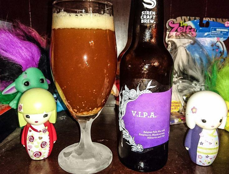 VIPA Belgian pale ale, with raspberry, blackberry, hibiscus & oak, 8.5%. Siren Craft Brew, Berkshire England. An interesting beer, which has a bitter/sweet taste & an underlying sourness. Enjoyable 😀